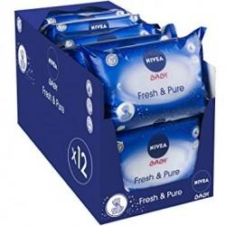 Nivea - Mega Giga Pack 756 Lingettes Bébés - Fresh sur Couches Poupon