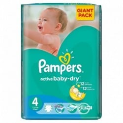 Pampers - Pack 90 Couches Active Baby Dry taille 4