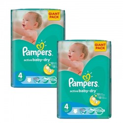 Pampers - Maxi Giga Pack 270 Couches Active Baby Dry taille 4
