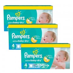 Pampers - Mega Pack 360 Couches Active Baby Dry taille 4 sur Couches Poupon