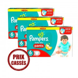 Pampers - Maxi Giga Pack 192 Couches Baby Dry Pants taille 6