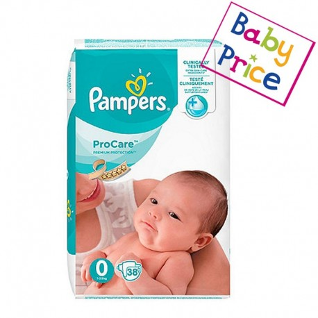 Pampers - Pack 38 Couches ProCare Premium protection taille 0 sur Couches Poupon