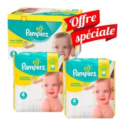 Pampers - Mega Pack 312 Couches New Baby - Premium Protection taille 4