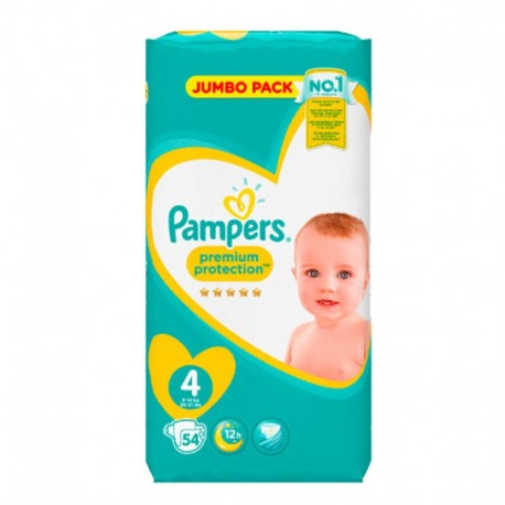 Pampers - Pack 54 Couches New Baby - Premium Protection taille 4 sur Couches Poupon