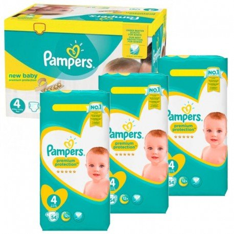 Pampers - Mega Pack 270 Couches New Baby - Premium Protection taille 4 sur Couches Poupon