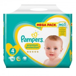 Pampers - Pack 78 Couches New Baby - Premium Protection taille 4 sur Couches Poupon
