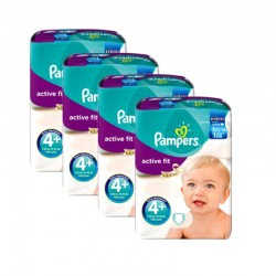 Pampers - Giga Pack 248 Couches Active Fit taille 4+ sur Couches Poupon