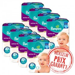Pampers - Pack Jumeaux 620 Couches Active Fit taille 4+