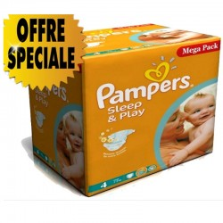 Pampers - Maxi Pack 432 Couches Sleep & Play taille 4
