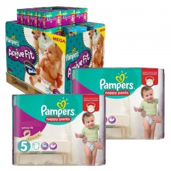 Pampers - Maxi Pack 630 Couches Active Fit - Pants taille 5