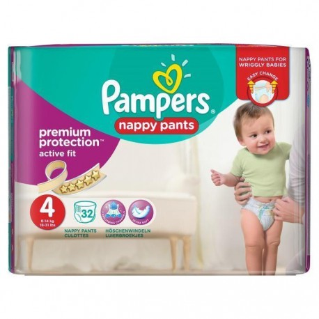 Pampers - Pack 32 Couches Active Fit Pants taille 4 sur Couches Poupon