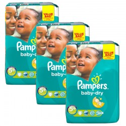 Pampers - Maxi Giga Pack 168 Couches Baby Dry taille 5+ sur Couches Poupon
