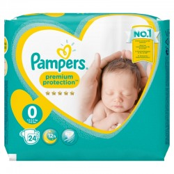 Pampers - Pack 24 Couches New Baby taille 0 sur Couches Poupon