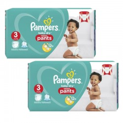 Giga Pack 160 Couches Pampers Baby Dry Pants