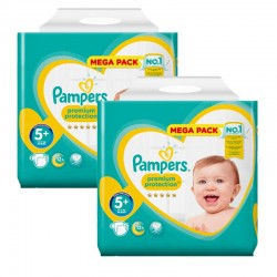 Pampers - Maxi Pack 270 Couches New Baby - Premium Protection taille 5+ sur Couches Poupon