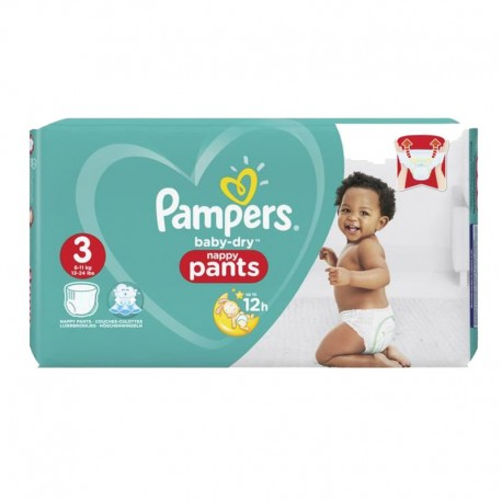 Pack 80 Couches Baby Dry Pants sur Couches Poupon