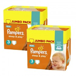 Pampers - Giga Pack 410 Couches Sleep & Play sur Couches Poupon