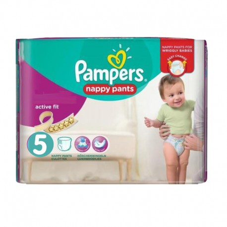Pampers - Pack 30 Couches Active Fit Pants taille 5 sur Couches Poupon