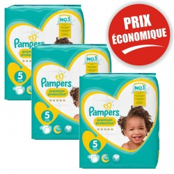 Pampers - Giga Pack 120 Couches New Baby - Premium Protection taille 5 sur Couches Poupon