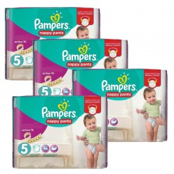 Pampers - Giga Pack 330 Couches Active Fit taille 5 sur Couches Poupon