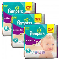 Pampers - Maxi Pack 141 Couches Active Fit taille 5 sur Couches Poupon