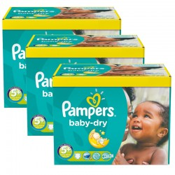 Pampers - Maxi Giga Pack 308 Couches Baby Dry taille 5+ sur Couches Poupon