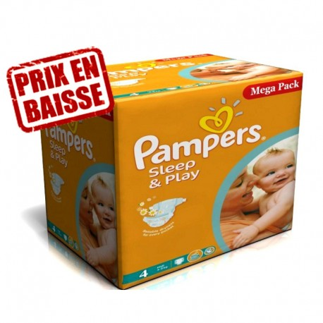 Pampers - Maxi Giga Pack 216 Couches Sleep & Play taille 4 sur Couches Poupon