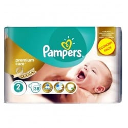 Pampers - Pack 38 Couches New Baby - Premium Care taille 2