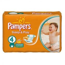 Pampers - Pack 36 Couches Sleep & Play taille 4 sur Couches Poupon