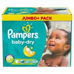 Pampers - Maxi Giga Pack 252 Couches Baby Dry taille 5+ sur Couches Poupon