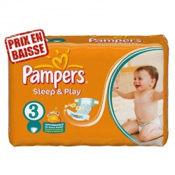 Pampers - 83 Couches Sleep & Play taille 3 sur Couches Poupon