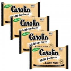 Carolin Serpillières 4X15 au Savon Noir Multi-surfaces sur Couches Poupon