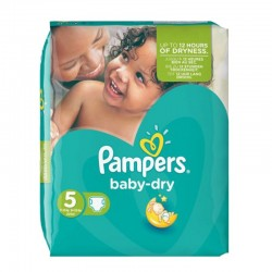 Pampers - Pack 90 Couches Baby Dry taille 5 sur Couches Poupon
