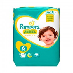 Pampers - Pack 56 Couches New Baby - Premium Protection taille 6 sur Couches Poupon
