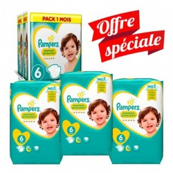 Pampers - Maxi Giga Pack 168 Couches New Baby - Premium Protection taille 6 sur Couches Poupon
