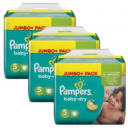 Giga Pack 144 Couches Pampers Baby Dry sur Couches Poupon