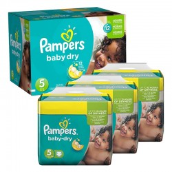 Maxi Giga Pack 288 couches Pampers Baby Dry sur Couches Poupon