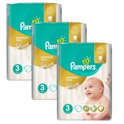 Giga Pack 180 Couches Pampers Premium Care Prima sur Couches Poupon