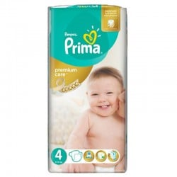 Pampers - Pack 20 Couches Premium Care - Prima taille 4
