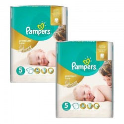 Pampers - Giga Pack 104 Couches Premium Care - Prima taille 5 sur Couches Poupon
