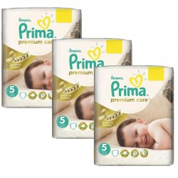 Pampers - Maxi Pack 378 Couches Premium Care - Prima taille 5 sur Couches Poupon