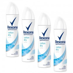 Rexona - Lot 4 Deodorants Motion Sense Cotton Dry sur Couches Poupon