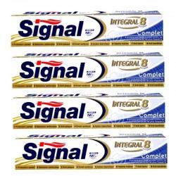 Lot de 4 Dentifrices Signal 75 ml Integral 8 Complet sur Couches Poupon
