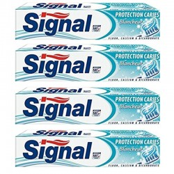 Signal - Lot 4 Dentifrices Protection Caries Blancheur sur Couches Poupon