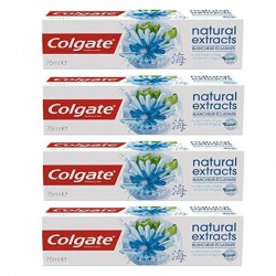 Colgate - Lot 4 Dentifrices Natural Extracts Blancheur Eclatante sur Couches Poupon