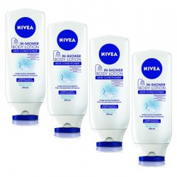 Nivea - Lot 4 Lotions Laits Corps Sous La Douche sur Couches Poupon