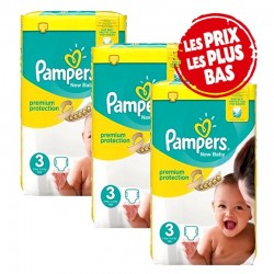 Pampers - Giga Pack 200 Couches New Baby - Premium Protection taille 3