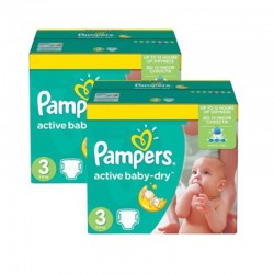 Pampers - Pack 108 Couches Active Baby Dry taille 3 sur Couches Poupon
