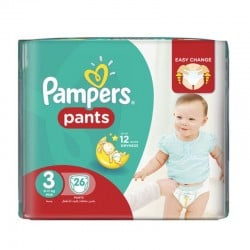 Pampers - Pack 26 Couches Baby Dry Pants taille 3 sur Couches Poupon