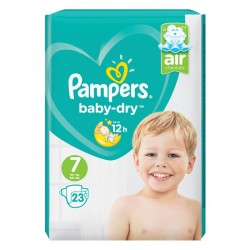 Pampers - Pack 23 Couches Baby Dry taille 7 sur Couches Poupon